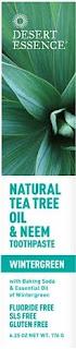 Deser Essence pasta de dientes aceite de árbol de té neem