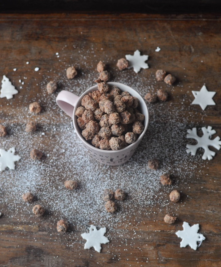 gluten free sugar roasted hazelnuts with holiday spices