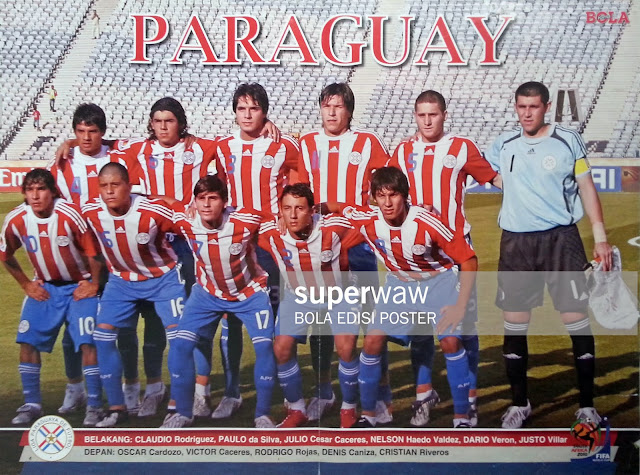 POSTER PARAGUAY 2010 TEAM SQUAD