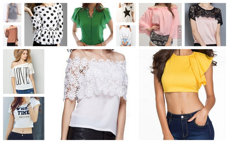 Inspired by the spirit of summer: Women's tops from FashionMia.