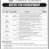 Project Engineer (Civil) Required in Finance Division Government of Pakistan