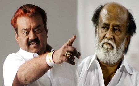 Rajinikanth Fans Protest Condemning Vijayakanth's Speech About Rajinikanth