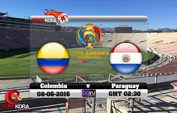 مشاهدة مباراة كولومبيا وباراجواي اليوم 8-6-2016 كوبا أمريكا