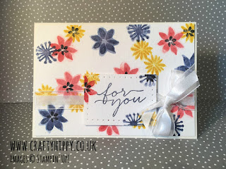 Learn this water colour technique using Aqua Painters from Stampin' Up!