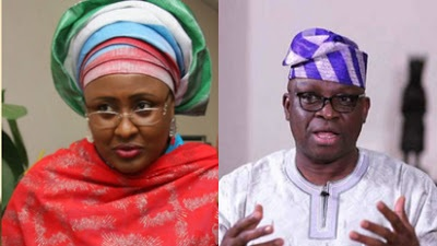 First lady, Aisha Buhari sues Governor Fayose