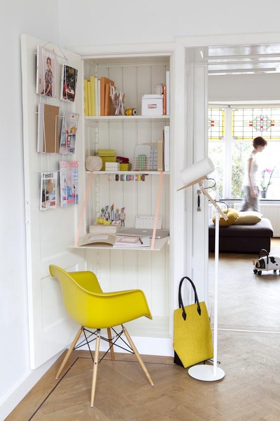 querido ref gio blog de decora o um espa o para trabalhar e criar em espa os pequenos. Black Bedroom Furniture Sets. Home Design Ideas