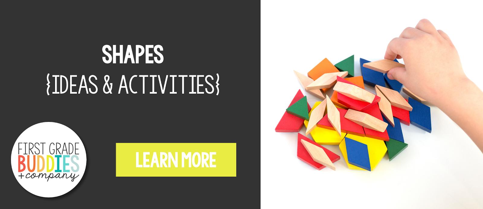 hight resolution of shapes {ideas + activities}   First Grade Buddies