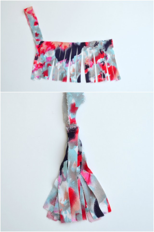 how to make fabric feathers