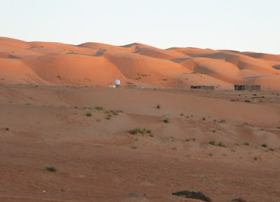 tramonto sul wahiba sands