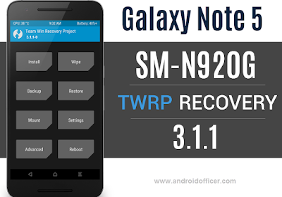 TWRP Recovery for Galaxy Note 5 SM-N920G