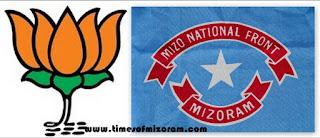 Mizoram Politics - BJP Leh MNF Inzawmna Nei Lo