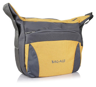 Bag-Age Messenger Sling Bag (Yellow)