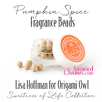 LISA HOFFMAN FOR ORIGAMI OWL SWEETNESS OF LIFE PUMPKIN SPICE FRAGRANCE BEADS available at StoriedCharms.com
