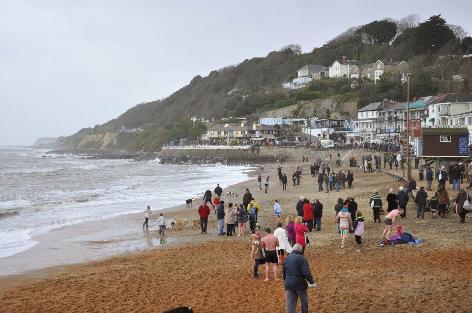 After Boxing Day cold sea dip in Ventnor on the Isle of Wight