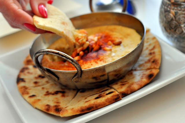 Warm Hummus with Pita - Tarla Mediterranean Grill - Napa, CA | Taste As You Go