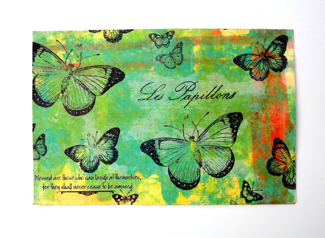 Les Papillons Butterfly Mixed Media Postcard by Dana Tatar for Canvas Corp BLes Papillons Butterfly Mixed Media Postcard by Dana Tatar for Canvas Corp Brands Swaprands