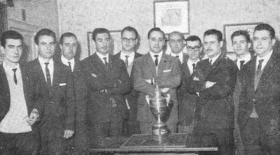 Los ganadores de la Copa Catalana de Ajedrez de 1962