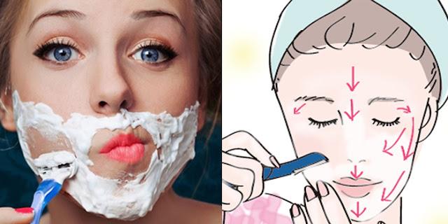 cách cạo lông trên mặt để làm trắng