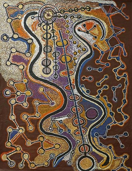 Artwork by Witjiti George, #17-461 - acrylic on belgian linen | imagenes de obras de arte abstracto, pinturas, abstract paintings, art pictures, cool stuff.