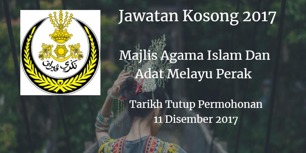 Jawatan Kosong MAIAMP 11 Disember 2017