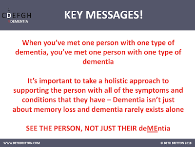 Key Messages for 'What is dementia?'