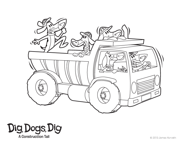 Dig, Dogs, Dig!: Coloring Pages!