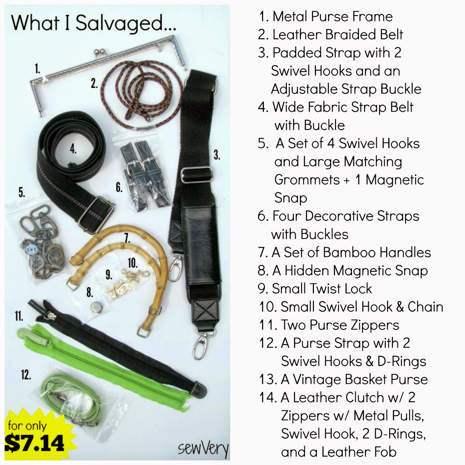Salvaging Purse Hardware with sewVery - Melly Sews