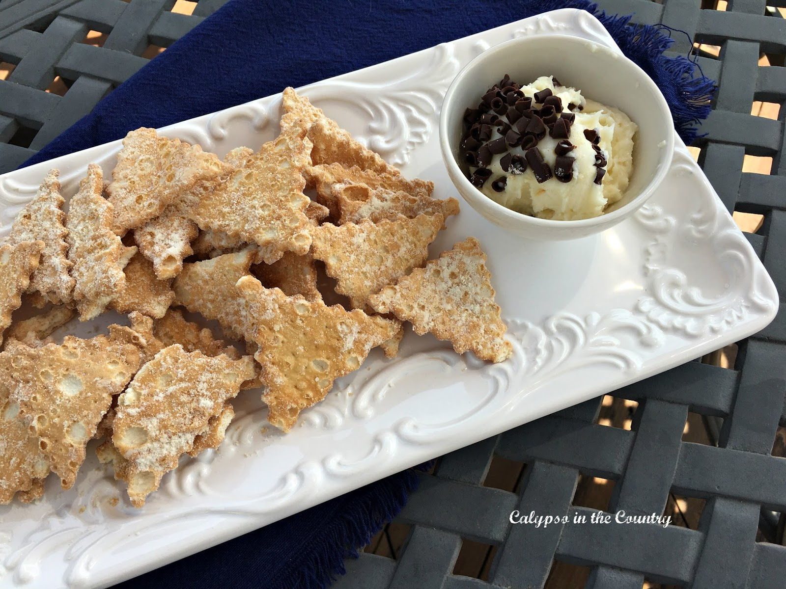 No Reason to Make Homemade! - Cannoli Chips and Dip