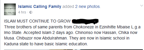 UNBELIEVABLE!!! 3 IGBO BROTHERS FROM IMO STATE CONVERT TO ISLAM – WHAT HAPPENED NEXT WILL SHOCK YOU