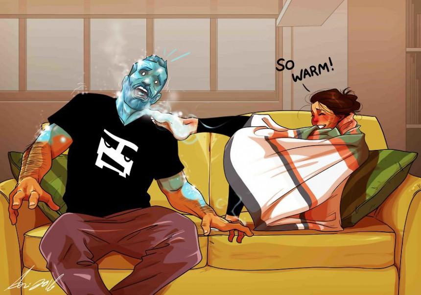 Man Draws Funny Comics Illustrating Everyday Life With His Partner - Happy Feet