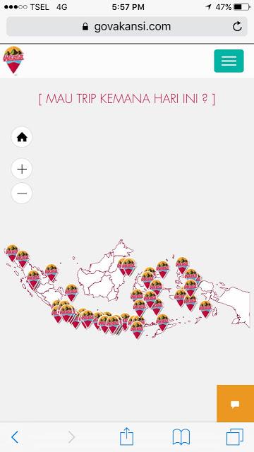 Govakansi Memudahkan Perencanaan Destinasi Wisata Indonesia Proses Mudah, Simpel, Sederhana