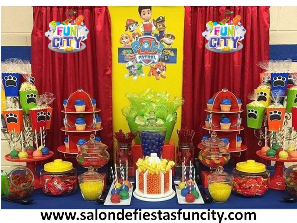 Manualidades decoracion de mesa de dulces de paw patrol for Manualidades decoracion infantil