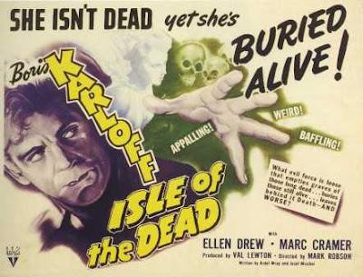 Cartel de época de Isle of the Dead, 1945