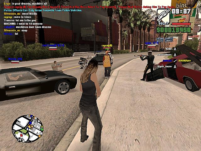 تحميل لعبة San Andreas Multiplayer سرقة السيارات برابط مباشر للكمبيوتر