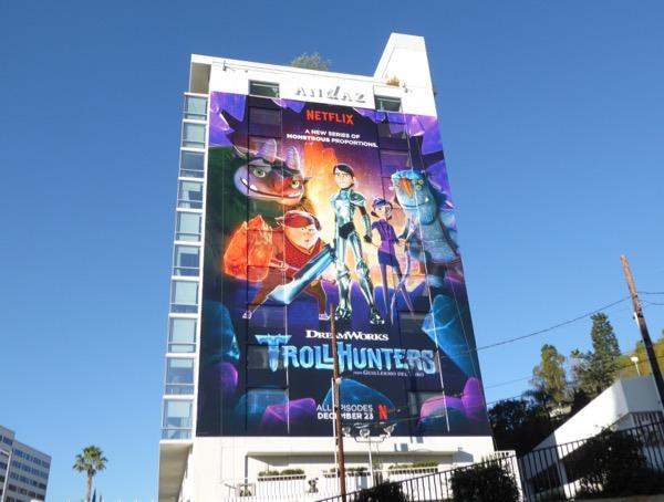 Giant Trollhunters series premiere billboard