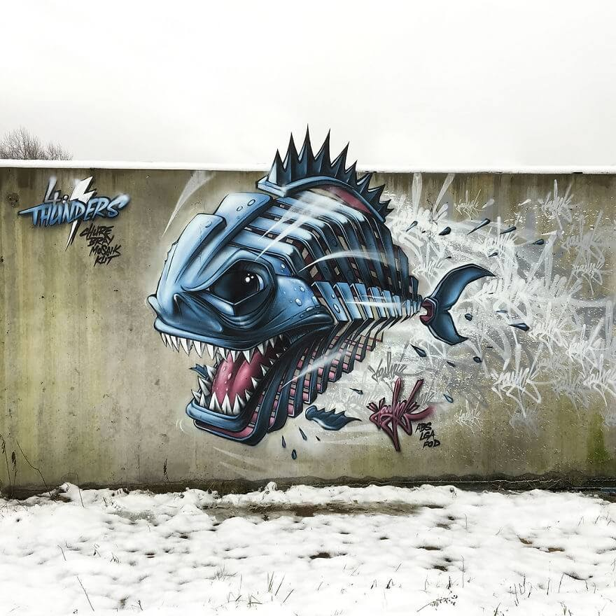 06-Piranha-Jayn-Slice-Style-Animal-Street-Art-www-designstack-co