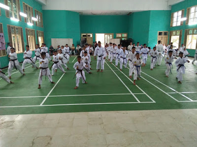 Sebanyak 200 Peserta Atlet Inkado Lampung Gelar Ujian Turun Kyu