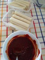 Tteokbokki - scharfe Reiskuchen Suppe