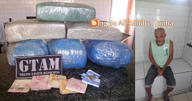 GTAM Prende Idoso com Drogas que Seria Distribuída em Chapadinha