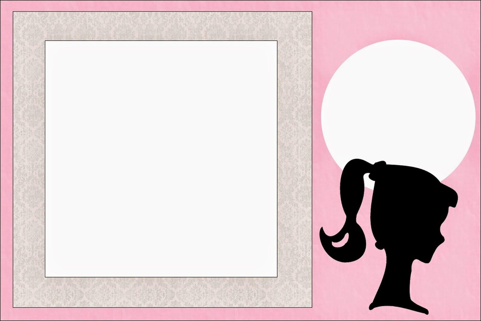 Barbie Silhouette Free Printable Invitations Oh My Fiesta in