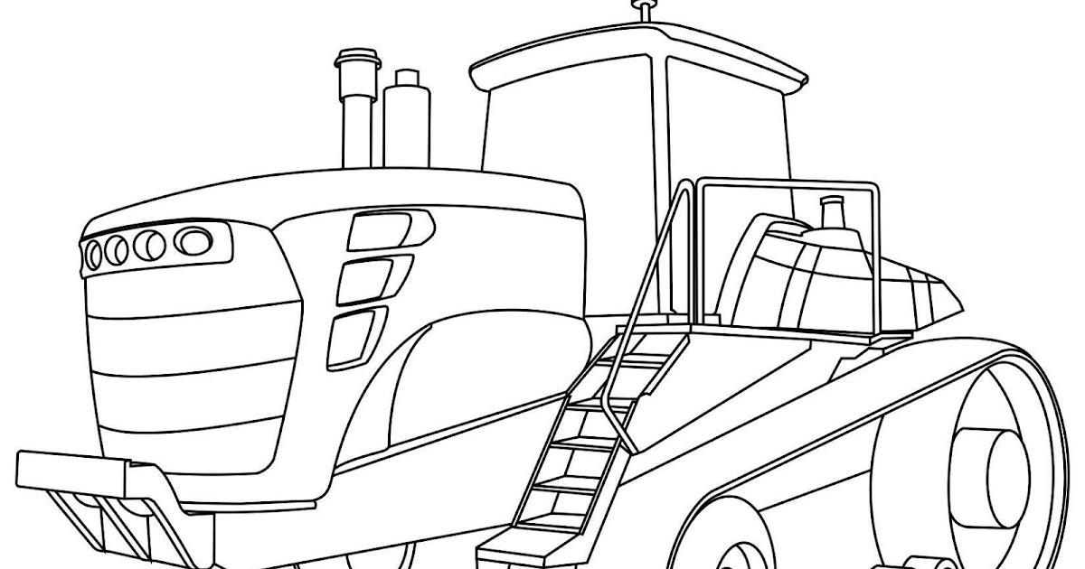 - John Deere Tractor Coloring Page