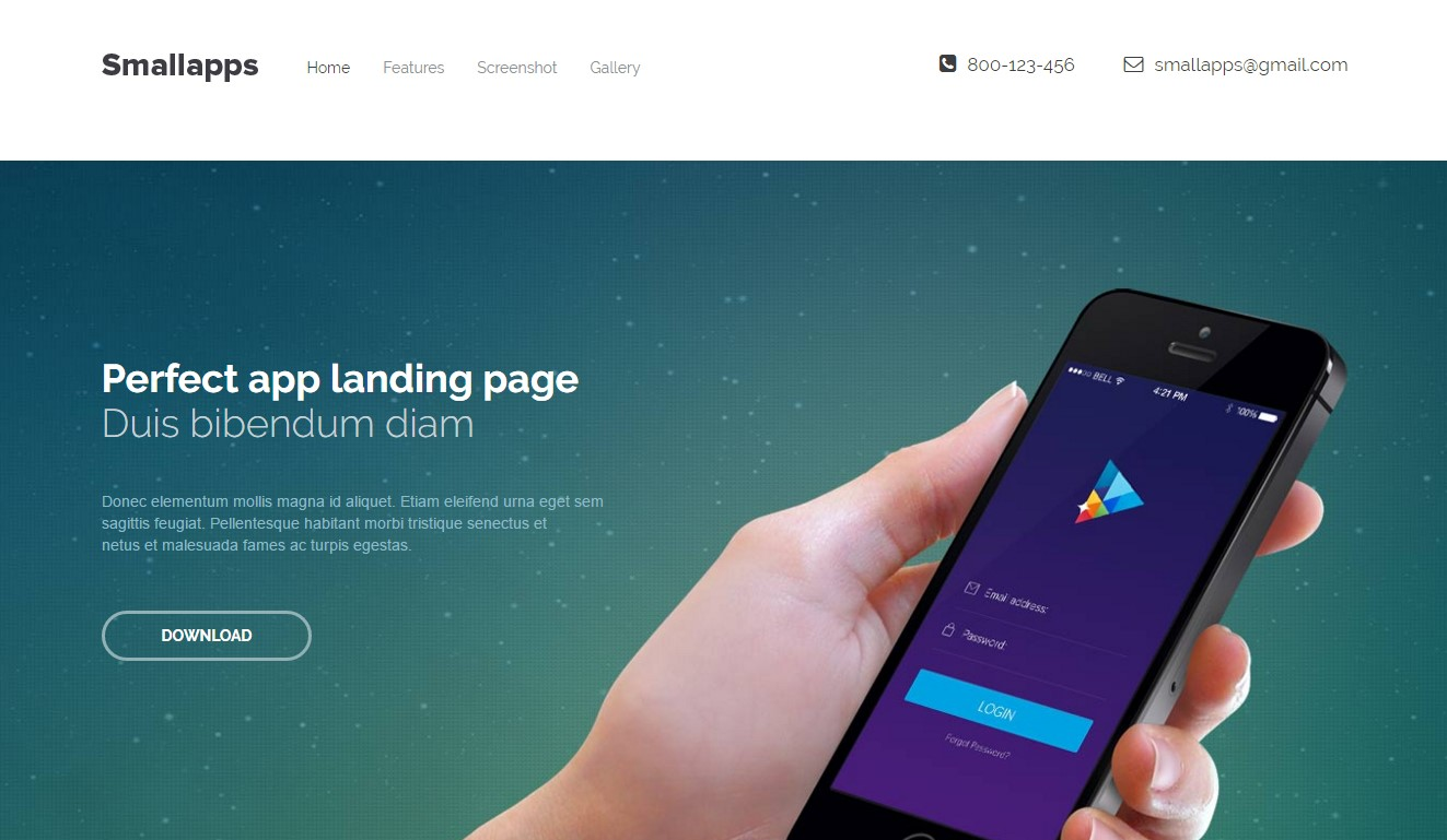 Top HTML Responsive Web Business Templates For - Mobile app landing page template free