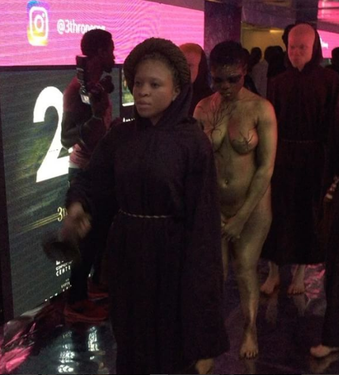 This Naked Girl Causes A Stir At The 3thrones Concert In Lagos(Photos)