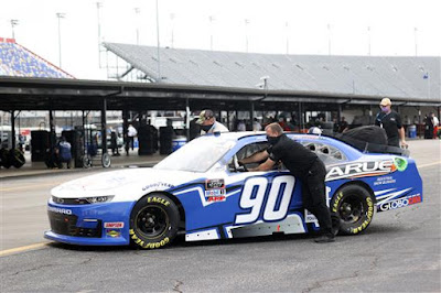 #90 Larue Snowblowers/rousseau Chevrolet, driven by  Alex Labbe #NASCAR Xfinity Series