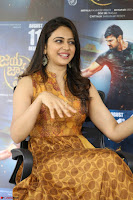 Rakul Preet Singh smiling Beautyin Brown Deep neck Sleeveless Gown at her interview 2.8.17 ~  Exclusive Celebrities Galleries 169.JPG