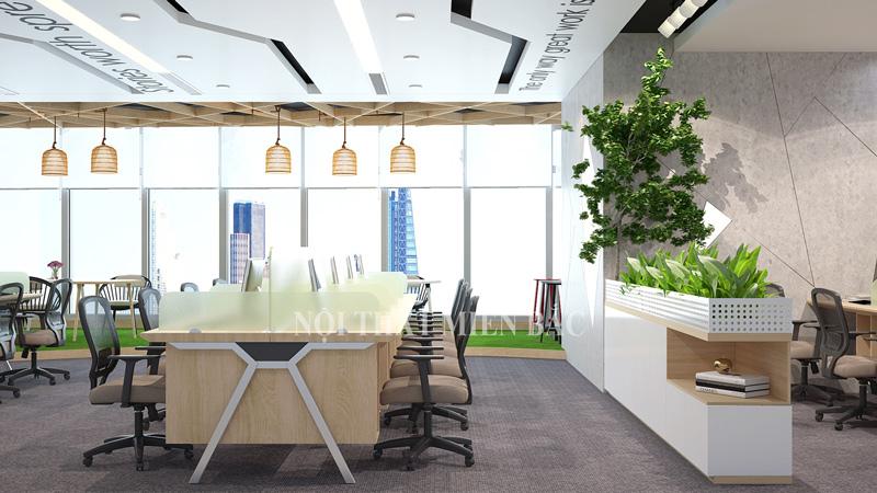Thiết kế nội thất phòng làm việc hiện đại - phòng dự án- H2