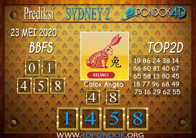 Prediksi Togel SYDNEY 2 PONDOK4D 23 MEI 2020