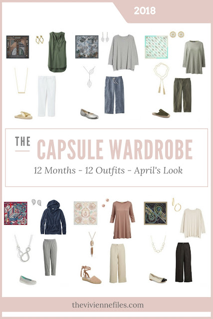 Build a Capsule Wardrobe in 12 Months, 12 Outfits - April 2018