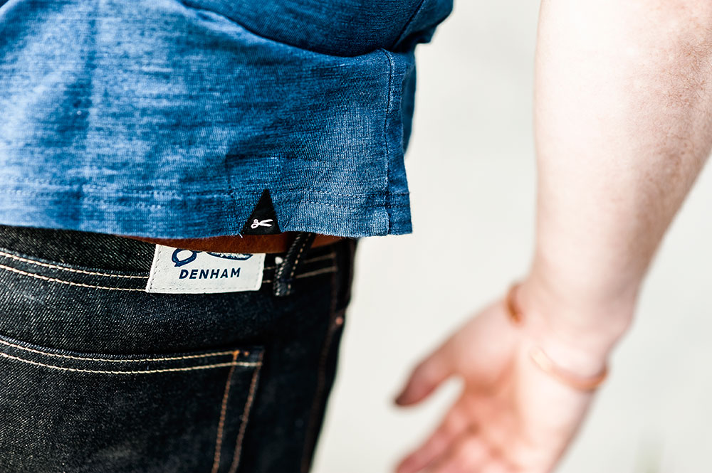 Denham The Jeanmaker Razor VIS Raw Selvedge Denim / Denham The Jeanmaker Signature Crew Indigo Tee by Tom Cunningham