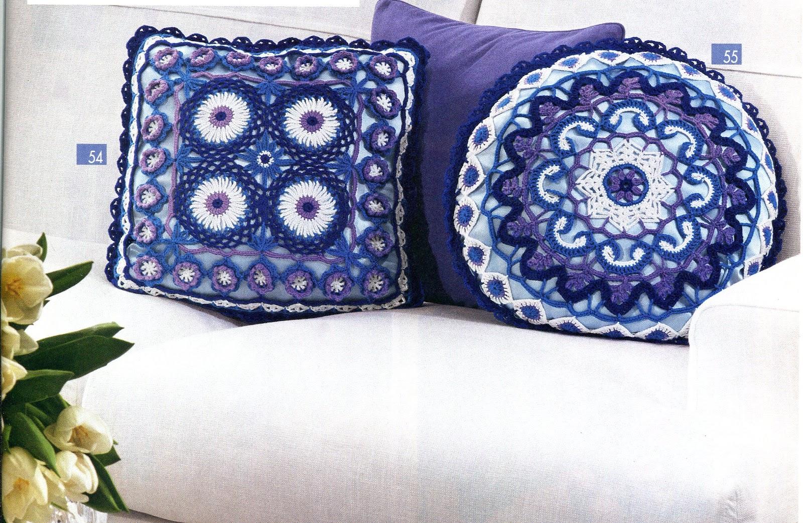 Cojines Tejidos A Crochet. . Cojines De Crochet Dos Cojines Muy ...